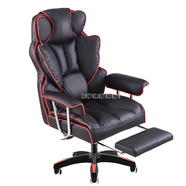 Home Office Computer Desk Massage Chair With Footrest Reclining