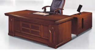 Brown Rectangular Wooden Office Table