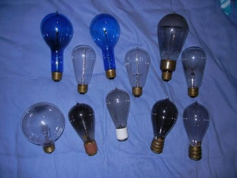 Check out these very old light bulbs I have, - YouTube
