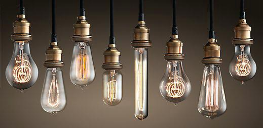 Old Light Globes Squirrel Cage Filament Round Old Fashioned Light