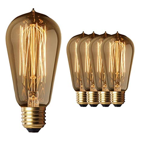 4 Pack Sale - Old Fashion Edison Light Bulbs - Highly Rated - 60W