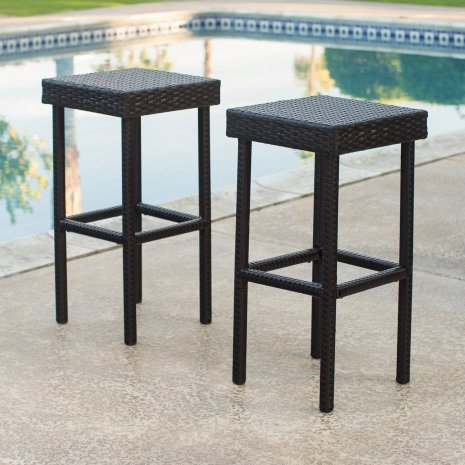 Outdoor Bar Stools Patio Swivel More Hayneedle Within Plans 8