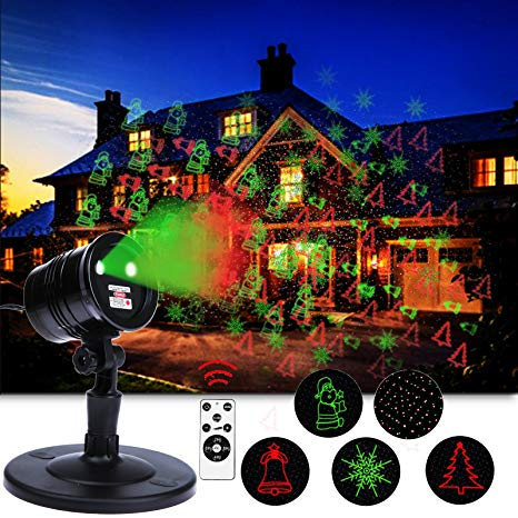 Amazon.com : Christmas Laser Lights, Red & Green LED Projector, RF