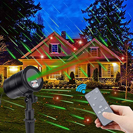 Amazon.com: Christmas Laser Lights, Green Dynamic Meteor Shower and