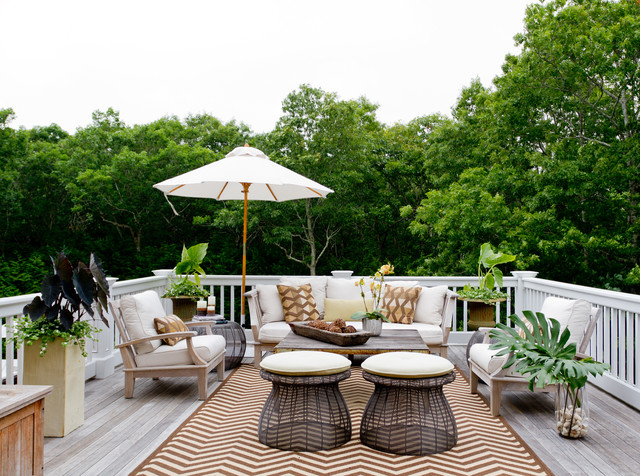 My Houzz: Iris Dankner Beach Style Deck, New York