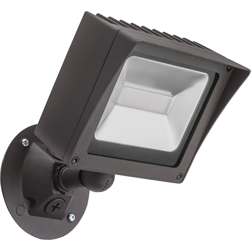 Lithonia Lighting 1 Square Head Bronze Outdoor Flood Light, 2500 lumens
