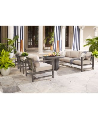Furniture Aruba Grey Outdoor Seating Collection, with Sunbrella®  Cushions,