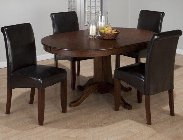 Richmond Cherry Round To Oval Dining Table Top | 34260T | Tables | Plourde  Furniture Company