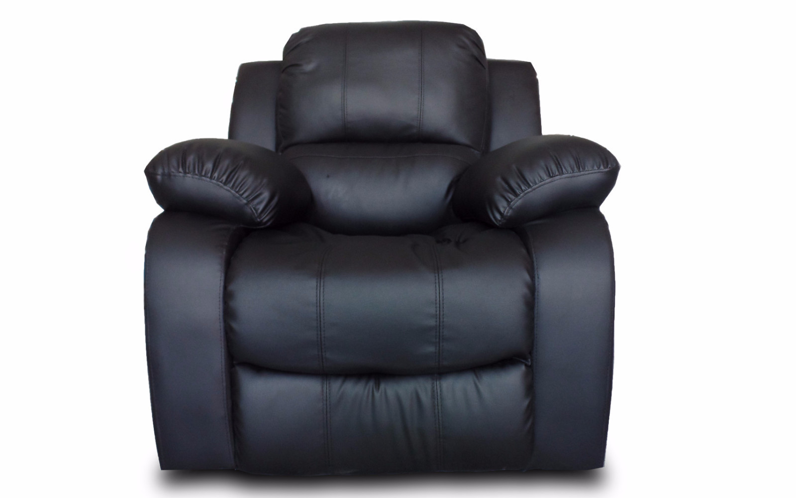 Product Image Classic Reclining Overstuffed Single Seat Bonded Leather  Recliner Chair