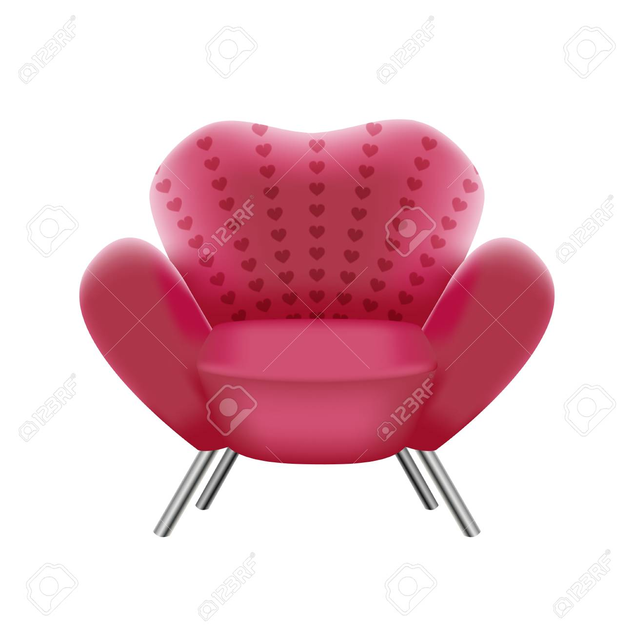 pink armchair on white background - vector illustration Stock Vector -  18847150