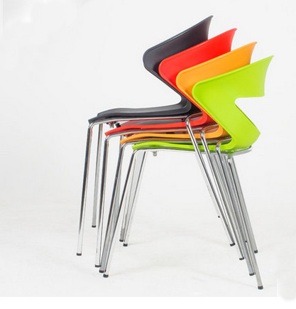 4 PCS /LOT )Modern plastic chair dining chairs plastic chairs office