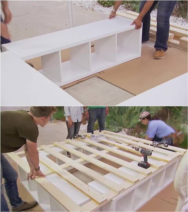 How to Build a Platform Bed with Storage #furniture #bed #DIY