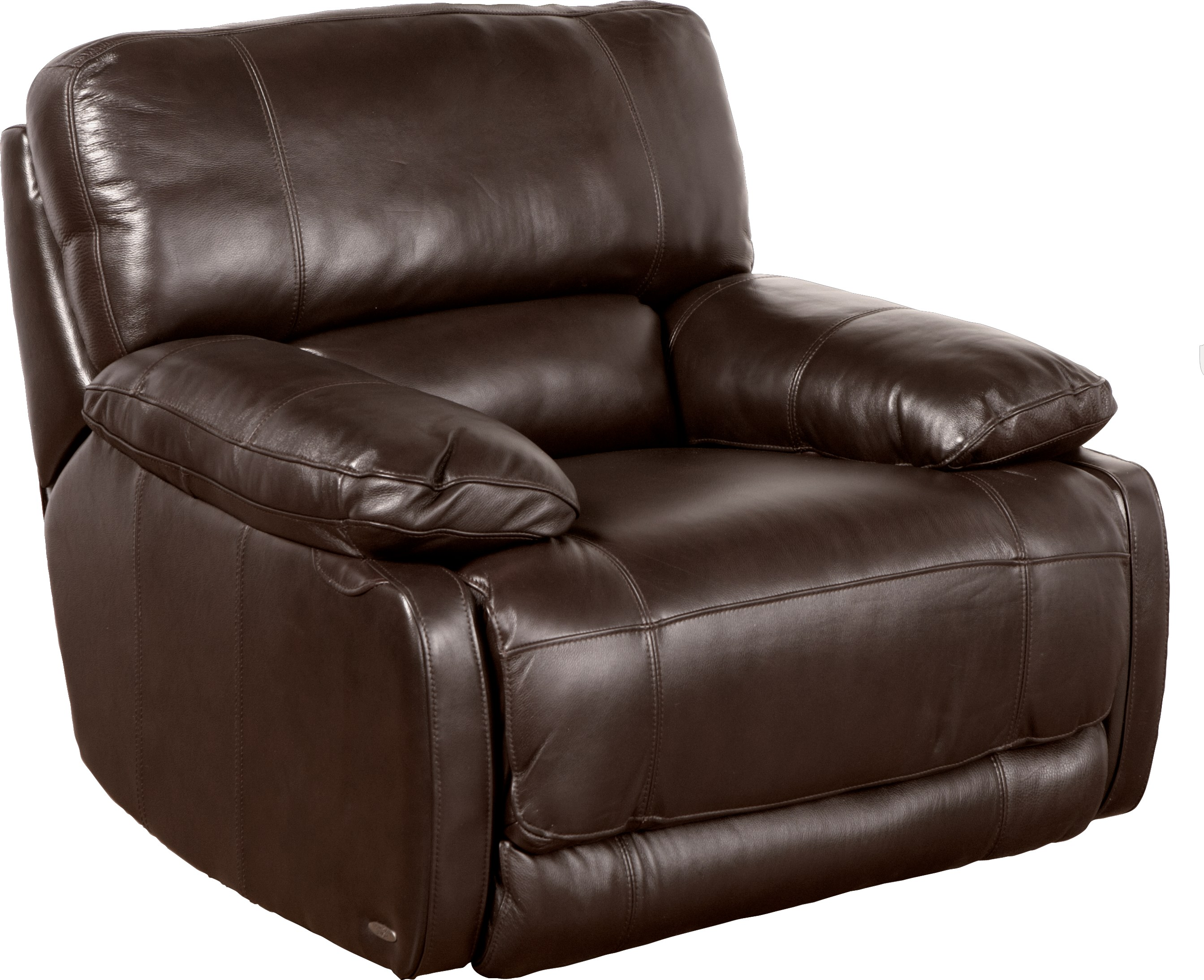 Cindy Crawford Home Auburn Hills Brown Leather Power Recliner - Recliners  (Brown)