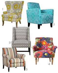 Statement piece chairs. Funky Chairs, Colorful Chairs, Cool Chairs, Awesome  Chairs,
