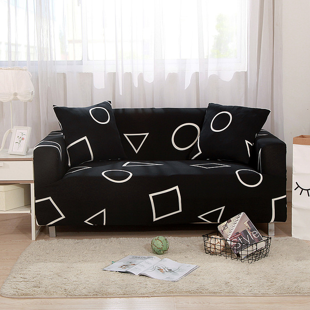 New Fashion Printed Universal Stretch Sofa Covers Polyester Modern Loveseat  Couch Cover 24-Colors 1/2/3/4-seater funda sofa