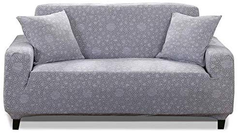 HOTNIU 1-Piece Stretch Sofa Couch Covers - Spandex Printed Loveseat Couch  Slipcovers - Arm-Chair Furniture Cover/Protector with Elastic Bottom and  Straps,