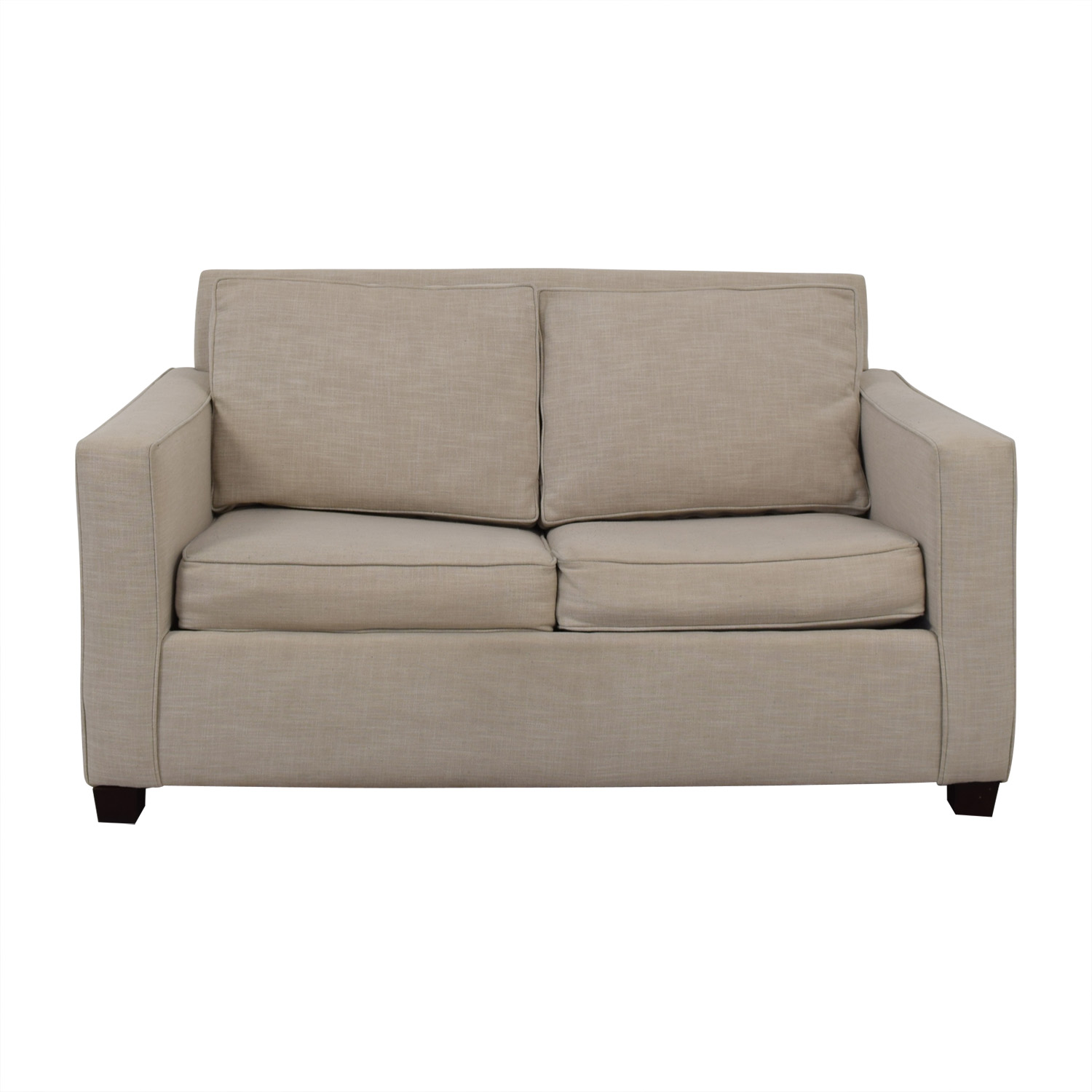 West Elm West Elm Henry Grey Loveseat with Twin Pullout Convertible used