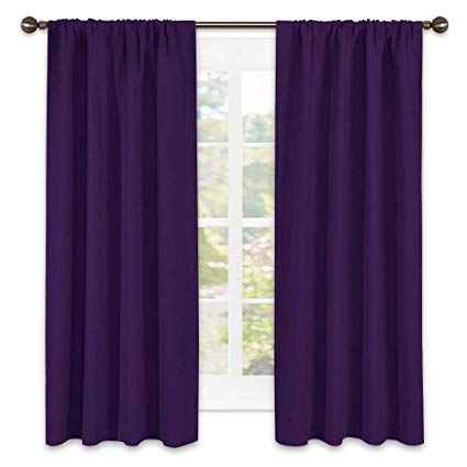 NICETOWN Blackout Curtains for Living Room - Triple Weave Home Decoration  Thermal Insulated Solid Rod Pocket