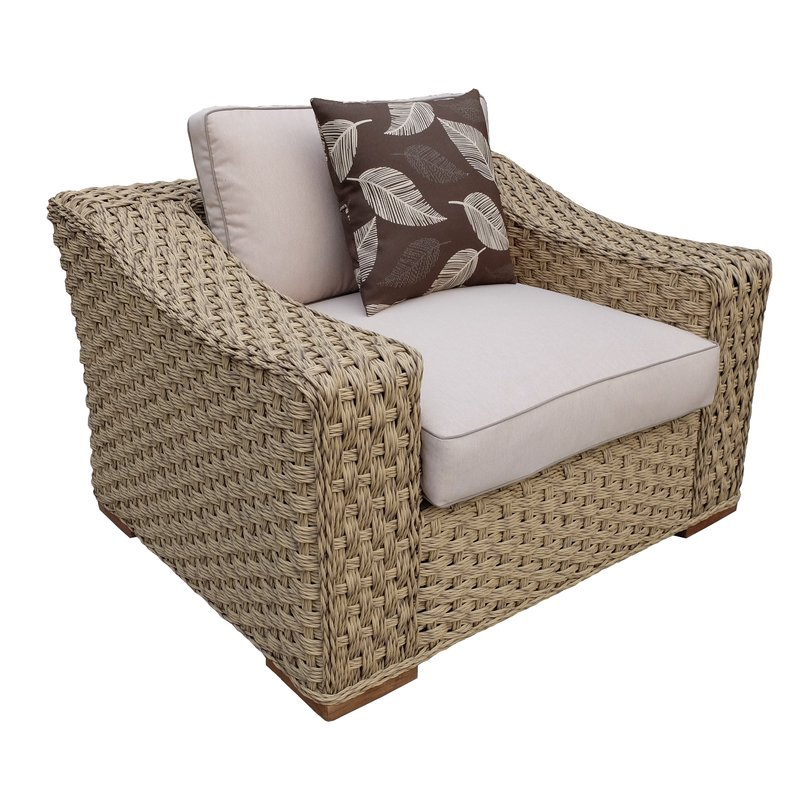 Dutil 4 Piece Rattan Sofa Set with Cushions