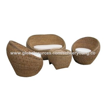 China All weather garden rattan wicker outdoor furniture sofa set  Modern patio sofa set furniture