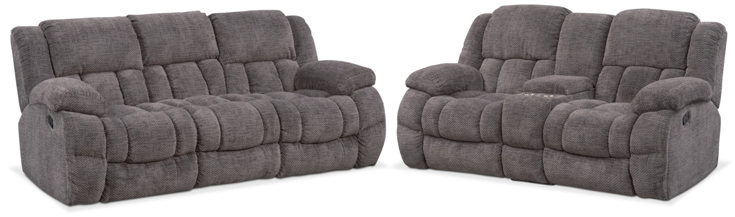 Turbo Reclining Sofa and Reclining Loveseat Set | American Signature