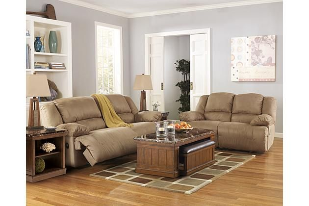Tan leather recliner couch and loveseat with coffee table for your