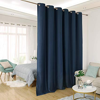 Deconovo Privacy Room Divider Curtain Thermal Insulated Blackout Curtains  Screen Partition Room Darkening Panel for Shared