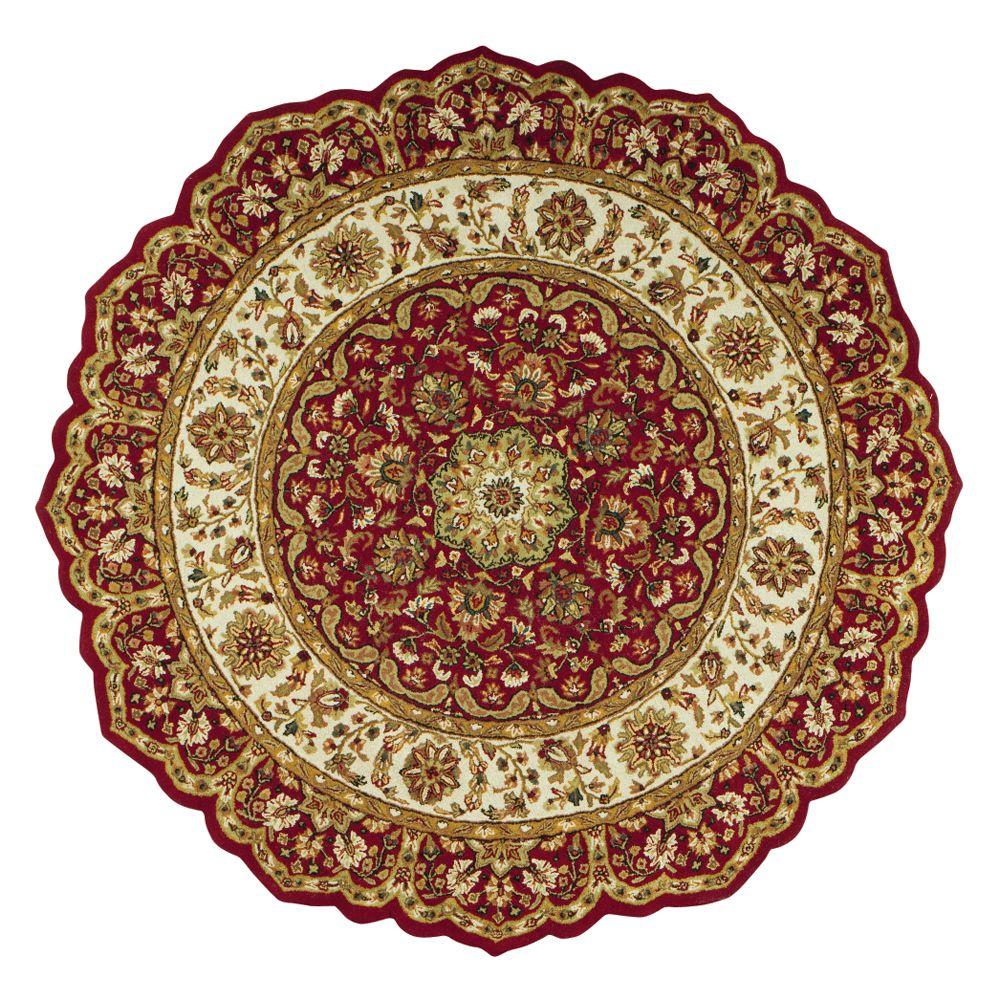 Home Decorators Collection Masterpiece Red 6 ft. Round Area Rug-3713960110  - The Home Depot