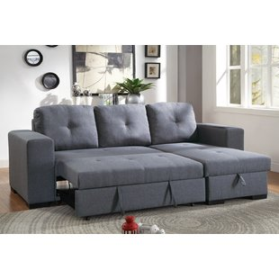 Buchman Linen-like Reversible Sectional with Pull-Out Bed