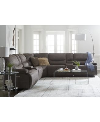 Furniture Felyx 7-Pc. Fabric Sectional Sofa With 3 Power Recliners