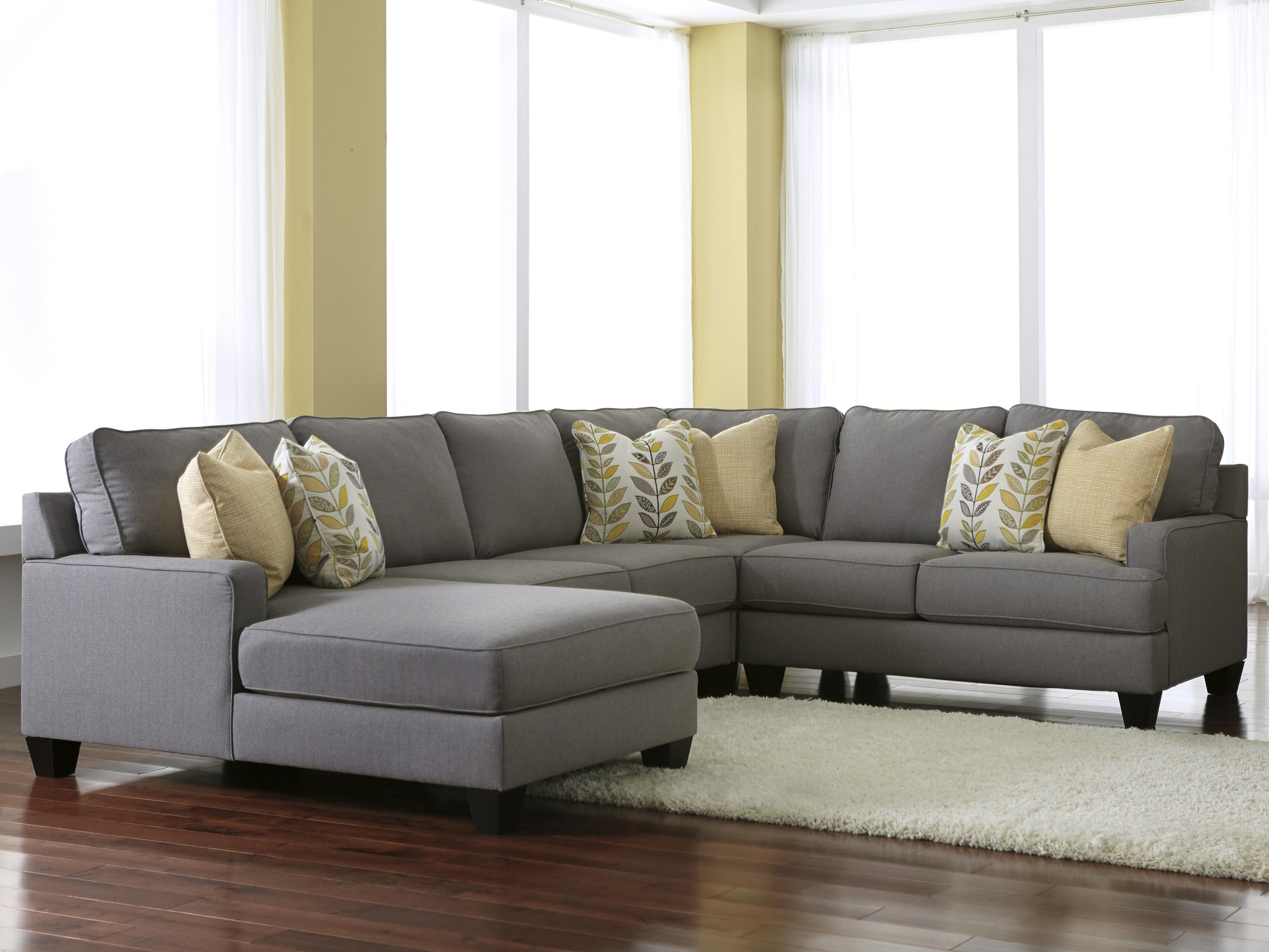 4-Piece Sectional Sofa with Left Chaise
