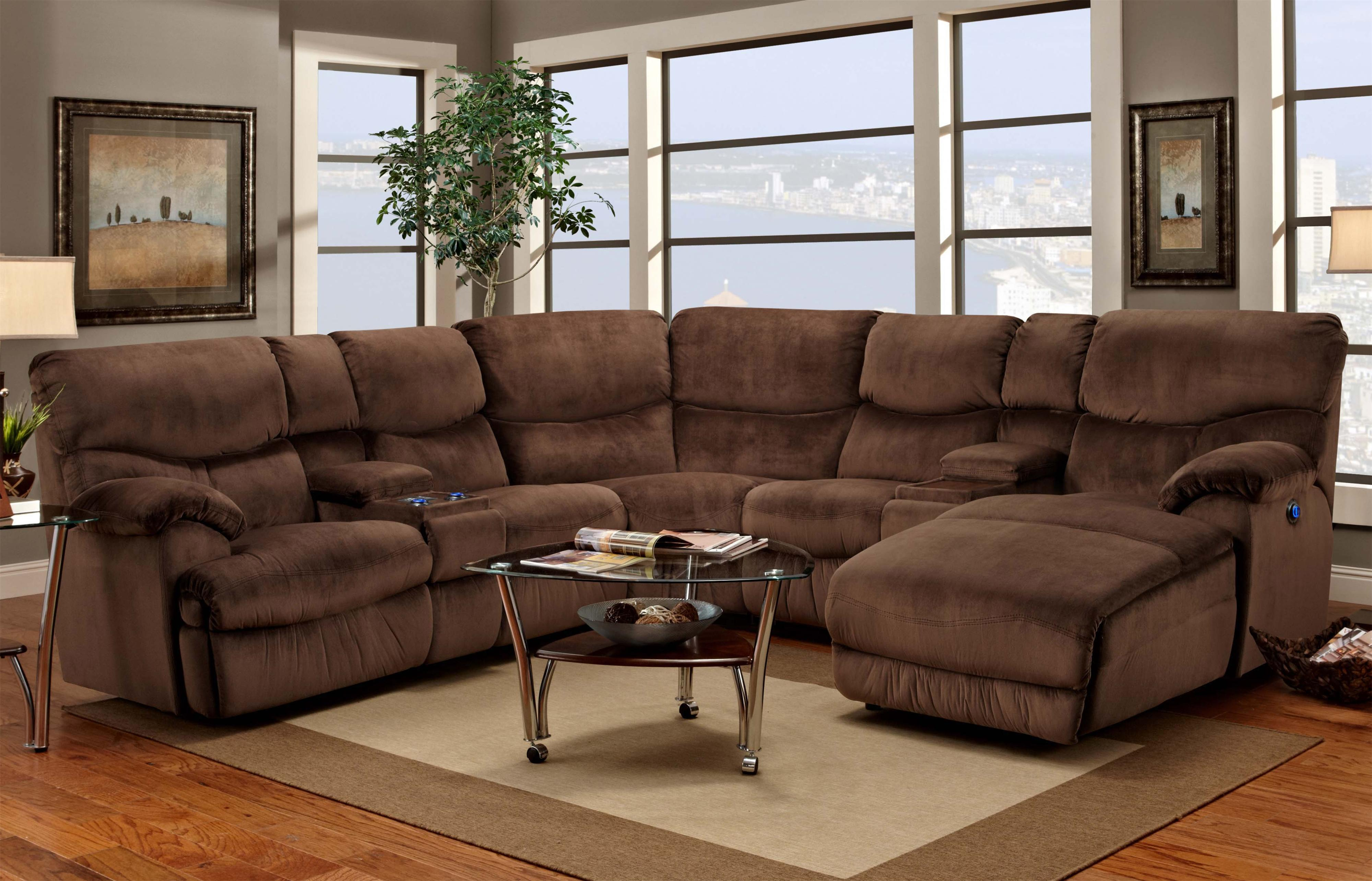 Franklin 597 Powered Reclining Sectional Sofa with Right-Side Chaise