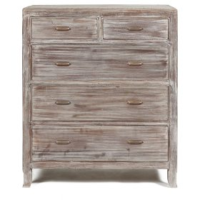 White Wash Wood. In place of perfectly polished furniture, Shabby Chic