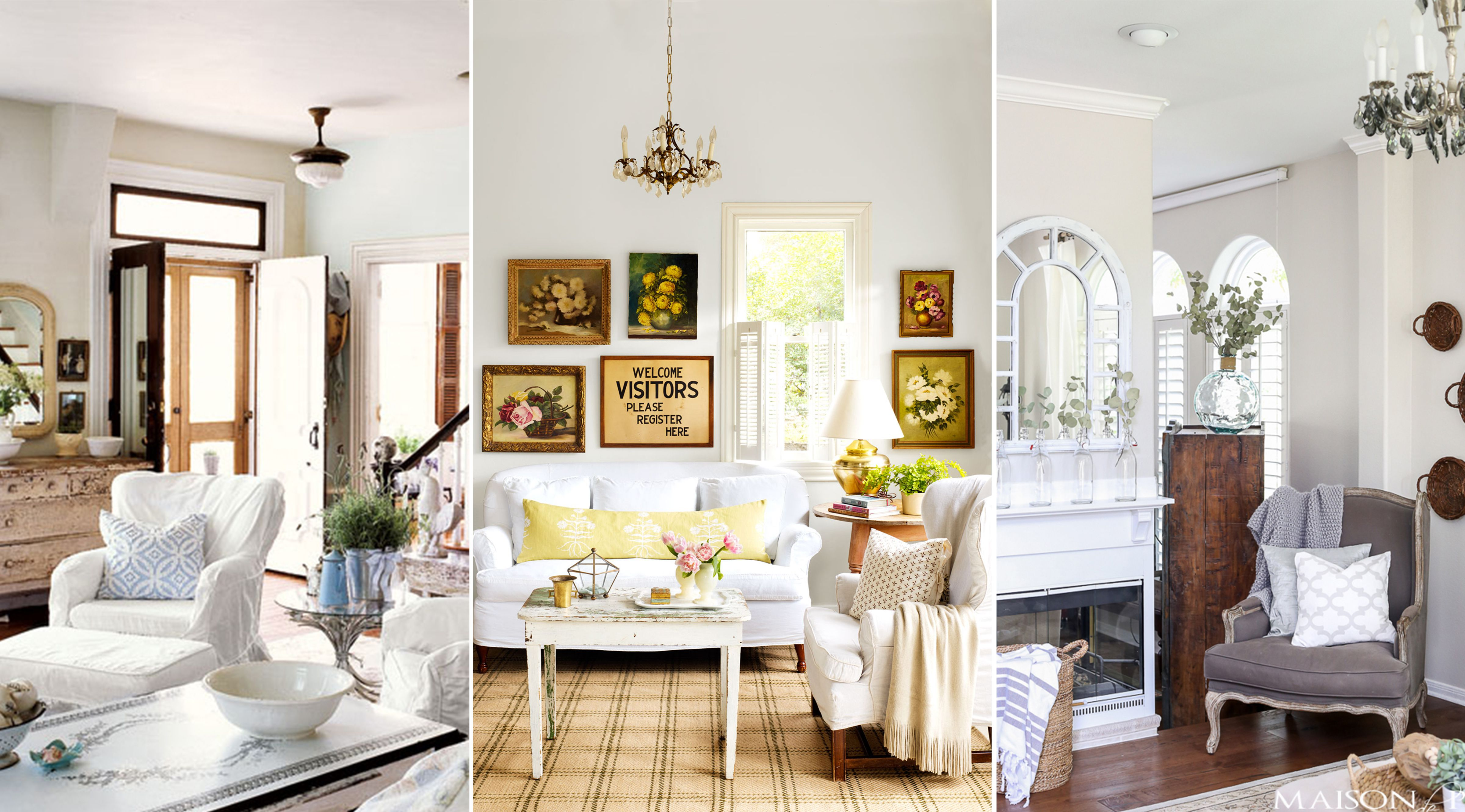 10 Shabby-Chic Living Room Ideas - Shabby Chic Decorating Inspiration for  Living Rooms