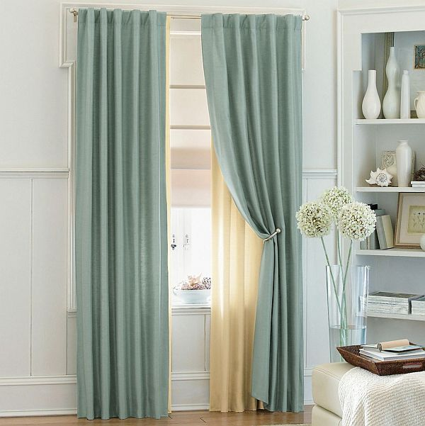 View in gallery blue sheer curtains