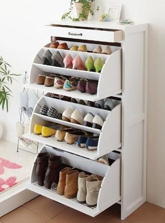 Image result for unfolding shoe cabinet drawers maximum storage