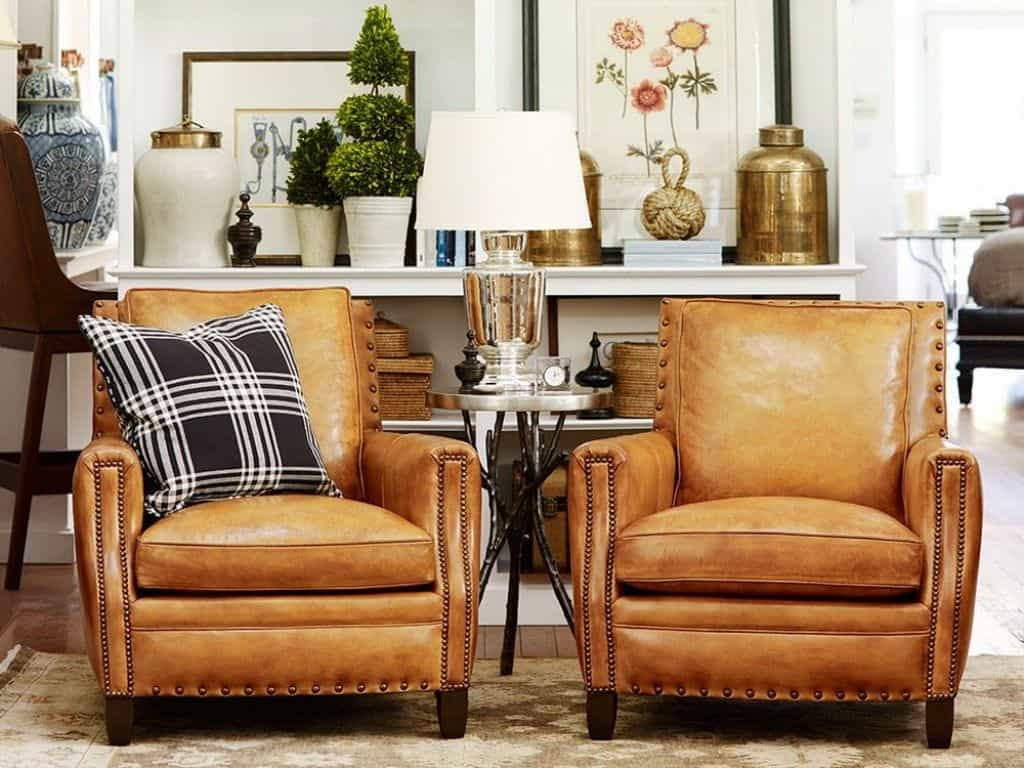 Living Room Leather Side Chairs