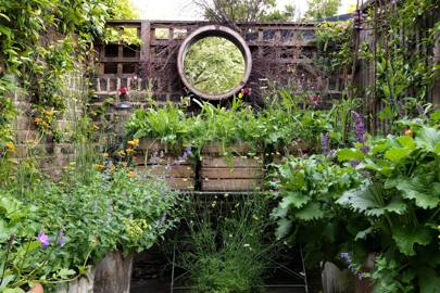This west London garden belongs to designer Butter Wakefield and is filled  with an abundance of geums, foxgloves, nepeta, roses and geraniums; a  wildflower