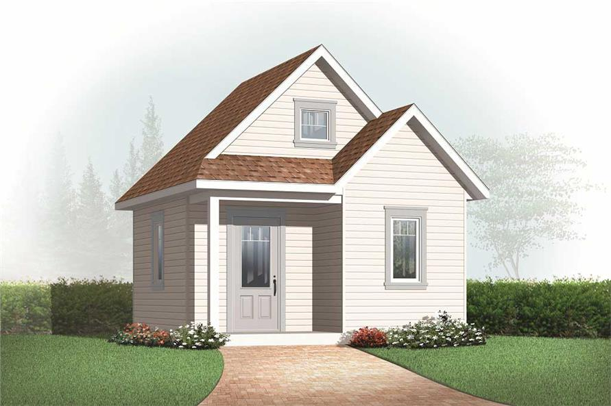 #126-1078 · 0-Bedroom, 352 Sq Ft Specialty Home Plan - 126-1078 - Main