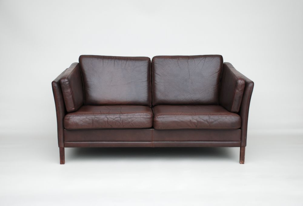 Creative of Small Leather Sofa Small Danish Dark Brown Leather Sofa Seating  Apollo Antiques
