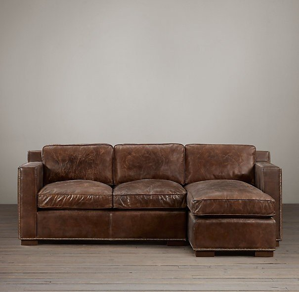 Taupe leather sofa 22