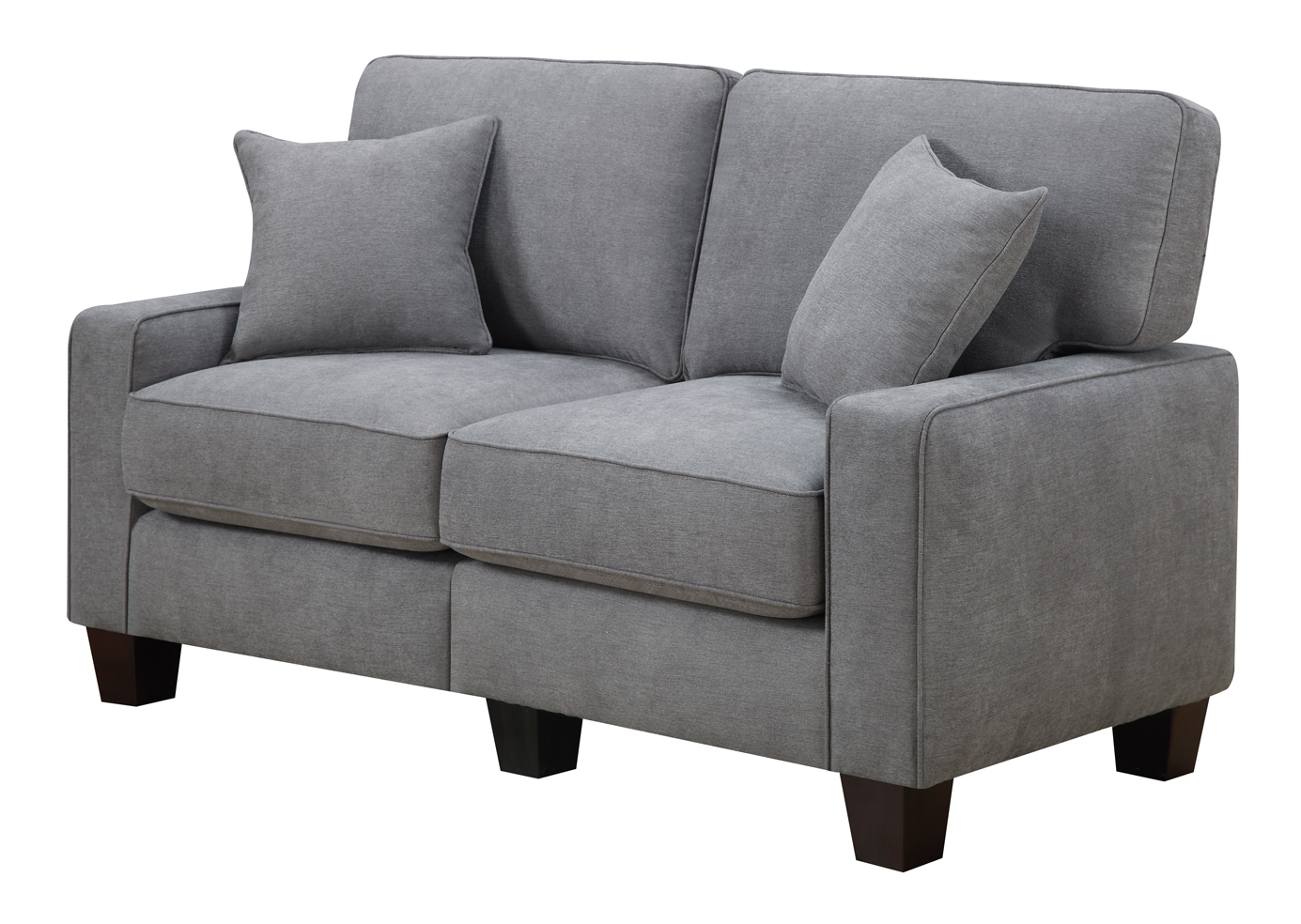 Serta RTA Palisades Collection 61 Loveseat in Glacial Gray