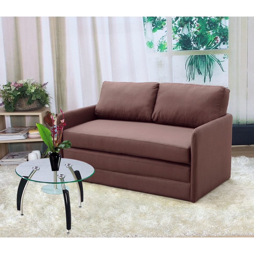 Sofa, Surprising Small Love Seat Small Loveseat Recliner Brown Couches  Wooden Floor Vase With Plant
