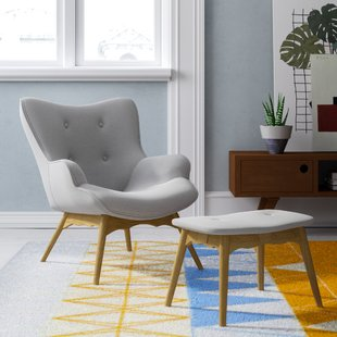 Blick Ducon Lounge Chair and Footstool