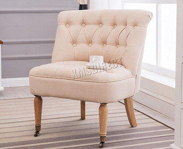 Classic Small Occasional Chair In Cream Finish