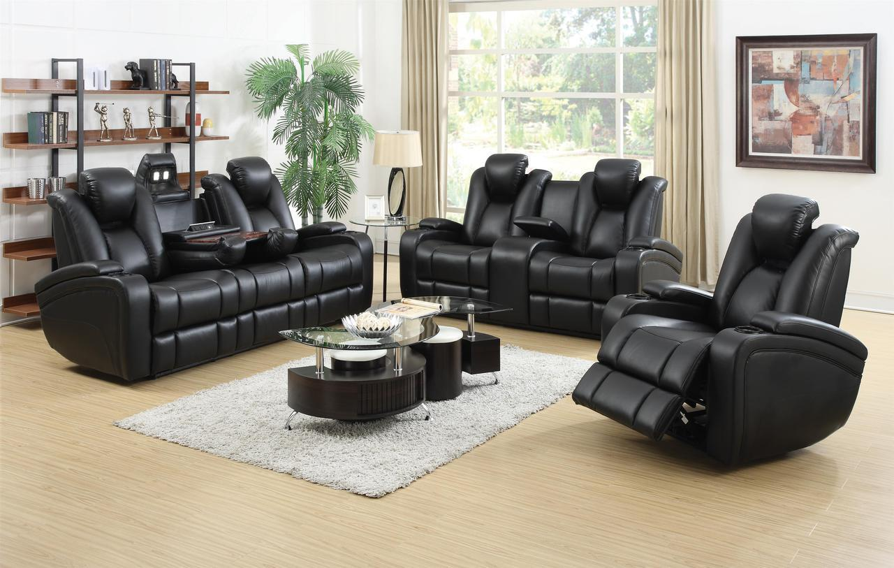 Power reclining sofa, loveseat & chair set (sold separately)