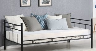 Giantex Twin Size Daybed Sofa Bed Bedroom Modern Metal Steel Bed