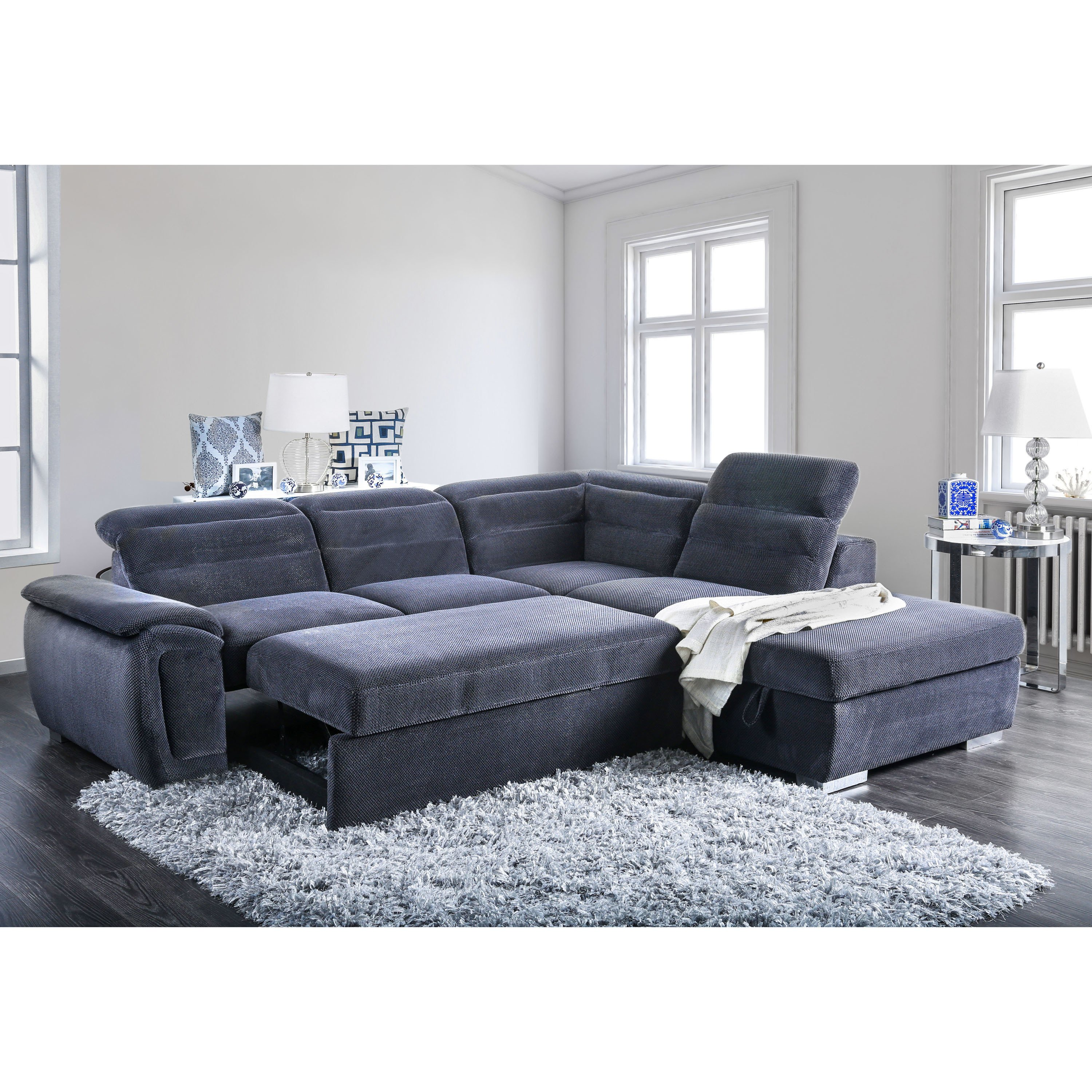Shop Alina Contemporary 2-Piece Sectional by FOA - On Sale - Free Shipping  Today - Overstock - 19893679