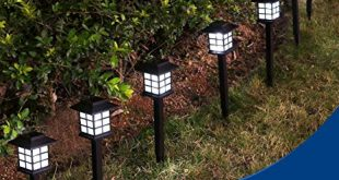 YUNLIGHTS 8pcs Garden Solar Stake Lights Outdoor Solar Pathway