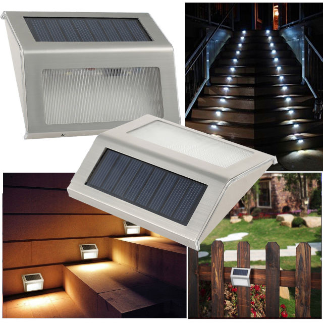 Solar Stair Light, EpicGadget Waterproof Outdoor LED Step Lighting 3